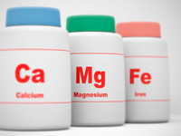 カルシウムとマグネシウムと鉄のサプリの画像