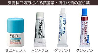 皮膚科で処方される抗生物質の塗り薬