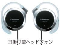 耳掛け型ヘッドフォンの写真