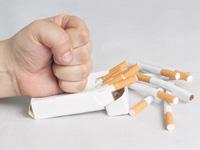 タバコを止める画像