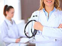 女性医師によるカウンセリング写真