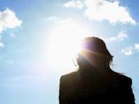 日中の紫外線の画像