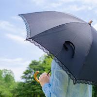 日傘による紫外線対策のイラスト