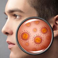 皮膚に存在する細菌の画像