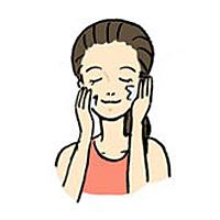 洗顔後の化粧水保湿の画像